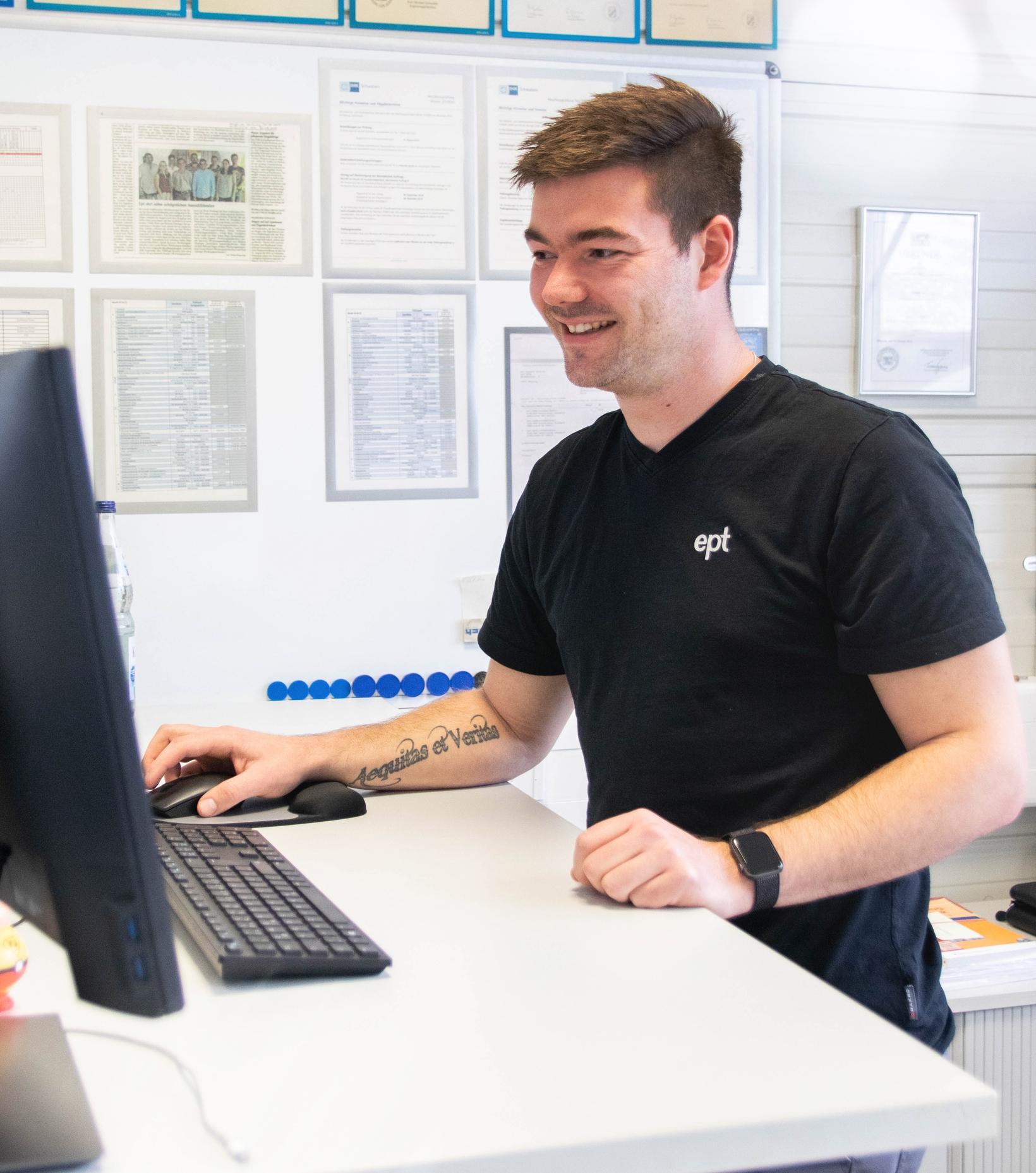 Tobias Blum Arbeitsplatz