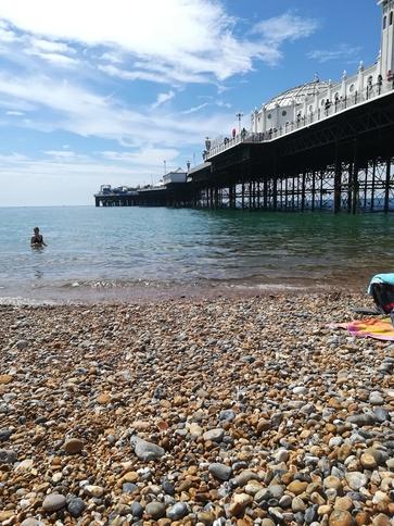Strand Brighton Palace Pier in England